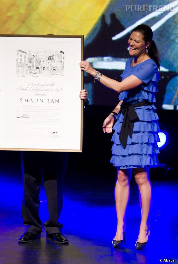 La princesse Victoria au Astrid Lindgren Memorial Award, à Stockholm.