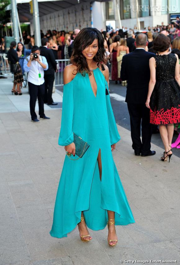 Chanel Iman, merveilleuse lors des CFDA 2011.