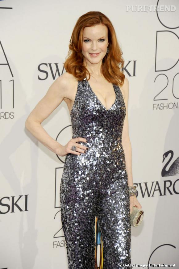 Marcia Cross aux CFDA, à New York.
