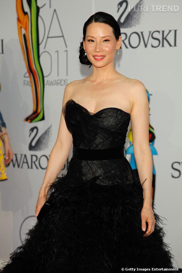 Lucy Liu aux CFDA Fashion Awards 2011, à New York.