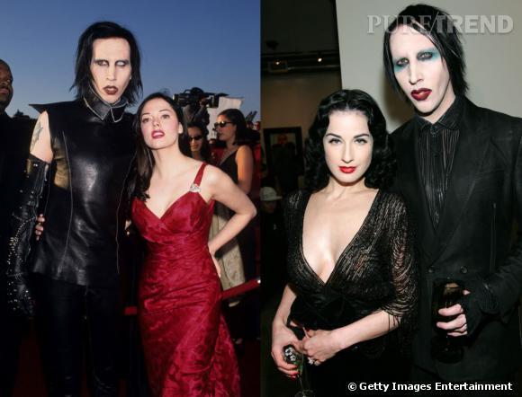 """Marylin Manson, l'un des mecs les """"plus moches au monde"""", attire pourtant les plus belles femmes de la planète à son bras."""