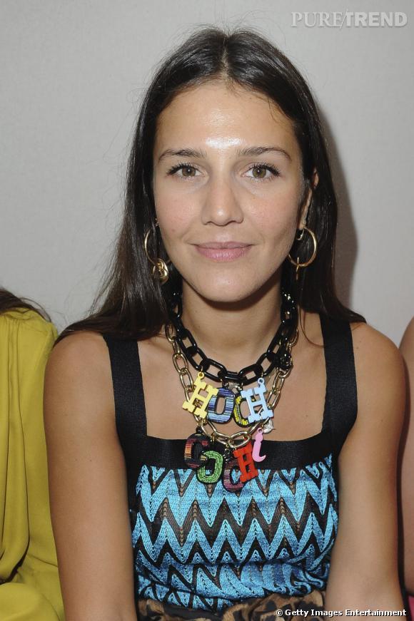 Margherita Missoni au défilé Haute Couture Giambattista Valli à Paris.