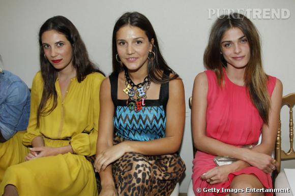 Margherita Missoni entre Tatiana Santo Domingo et Elisa Sednaoui au défilé Haute Couture Giambattista Valli à Paris.