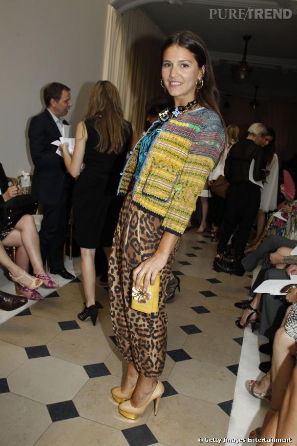 Mélange des imprimés, des couleurs, Margherita Missoni affiche un look pointu et un furieux sens de l'association.