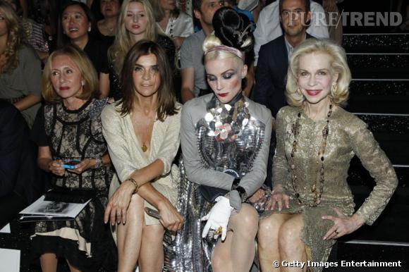 Carine Roitfeld et Daphne Guinness, deux styles, une même passion : la mode.