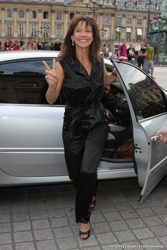 Sophie Marceau chez Chaumet Place Vendôme à l'occasion de l'exposition 200
