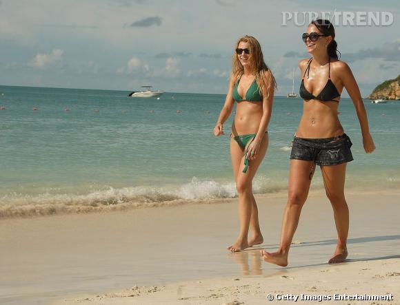 Blake Lively et Maria Menounos qui s'offrent une balade au bord de l'eau. Si, si, c'est du sport.