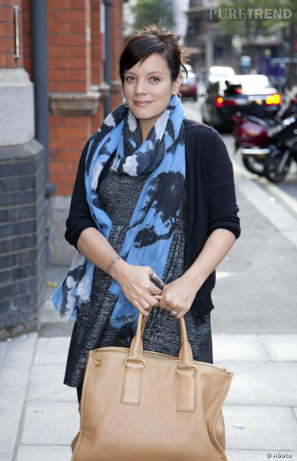 Lily Allen de sortie dans les rues de Londres.