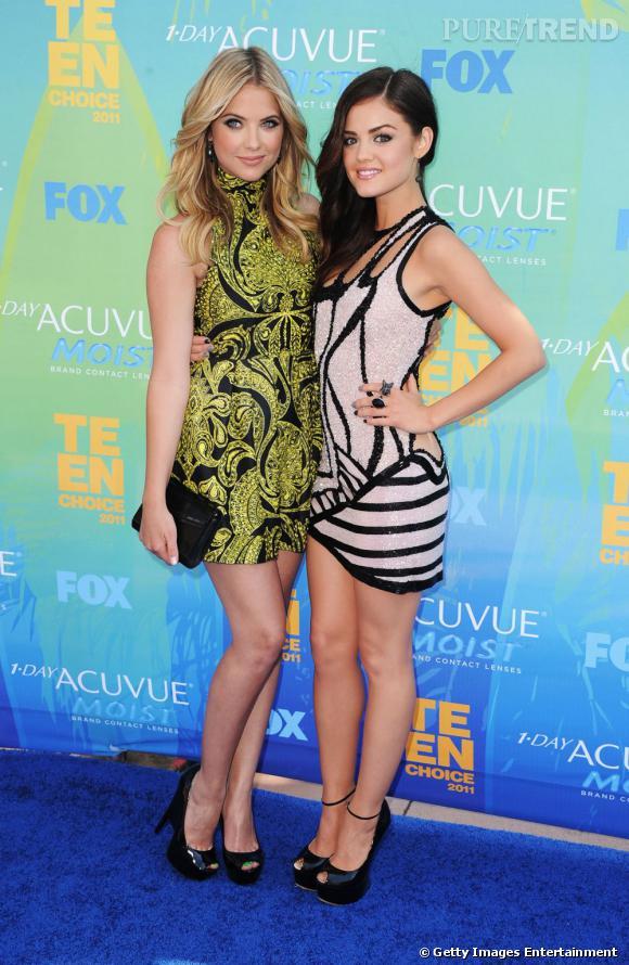 Ashley Benson est venue soutenir sa partenaire Lucy Hale, sacrée meilleure actrice télé de l'été pour Pretty Little Liars. La série elle-même s'est distinguée dans la catégorie du meilleur show de l'été.