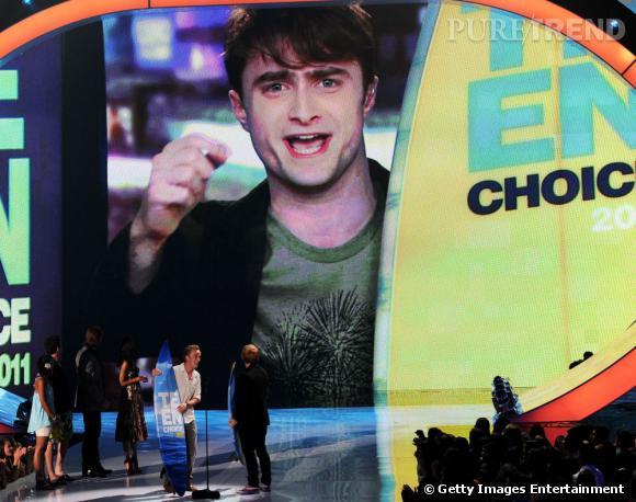 Si Daniel Radcliffe n'a pas pu faire le déplacement, il a tout de même tenu à remercier ses fans qui l'on sacré meilleur acteur de film de l'été, pour Harry Potter et les reliques de la mort : partie 2.