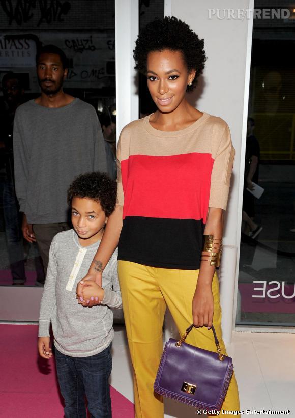 Solanges Knowles lors de la conférence de la marque INC International Concept pour Macy's à New  York.