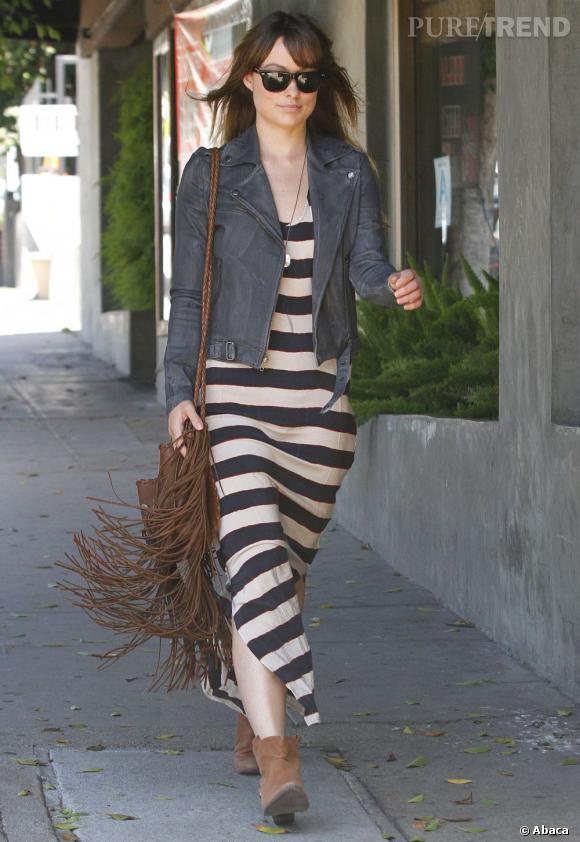 Olivia Wilde dans les rues de Los Angeles.