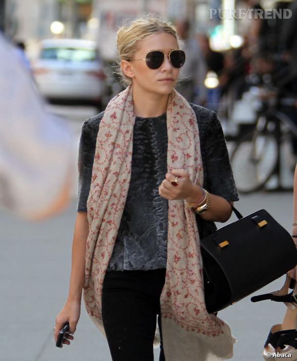 Ashley Olsen dans les rues de Tribeca.
