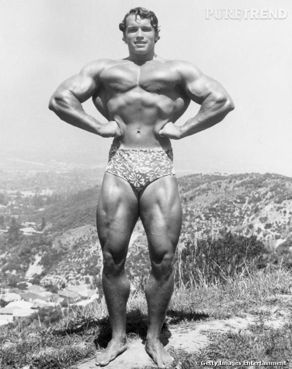 Avant d'être gouverneur de Californie, Arnold Schwarzenegger entretenait une silhouette de bodybuilder, comme ici moulé dans un micro-caleçon hawaïen. On l'a connu plus mode, ceci dit.