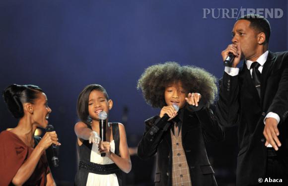 Avec Will Smith, on profite de sa famille sur scène, à fond showbizz.