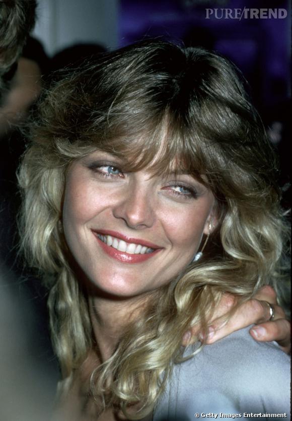 """Michelle Pfeiffer , une reine de beauté aux faux-airs de Blondie peu de temps après avoir remporté son titre de """" Miss Orange County """" en 1978."""