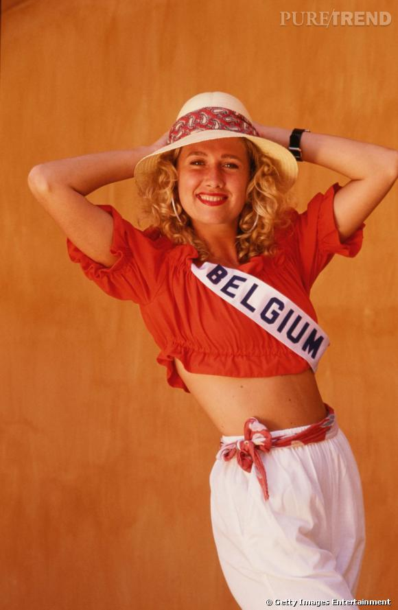Participante du concours Miss Univers 1989, Miss Belgique.