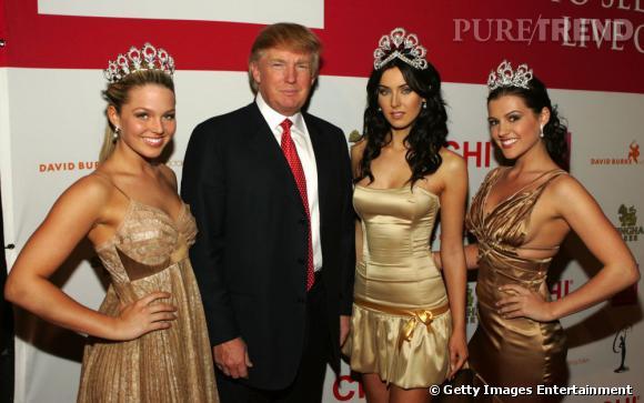 Les Miss autour de Donald Trump qui a racheté le concours en 1996.