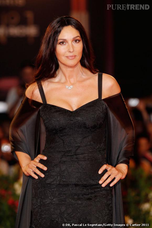 Comme Madonna, Monica Bellucci était parée par Cartier.