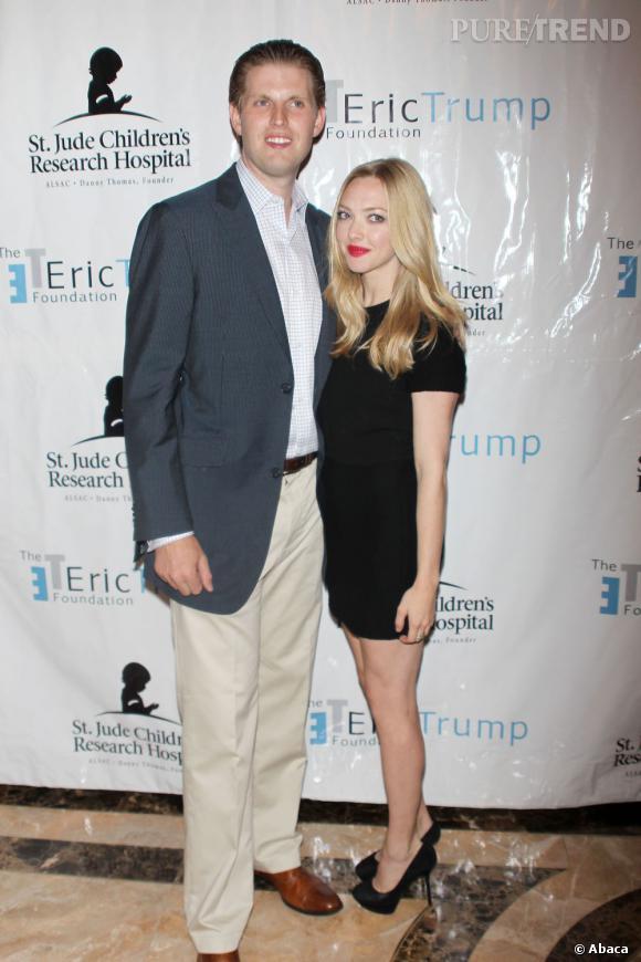 Amanda Seyfried au côté d'Eric Trump qui organise ce soir-là le 5ème gala de sa fondation qui aide les enfants malades.