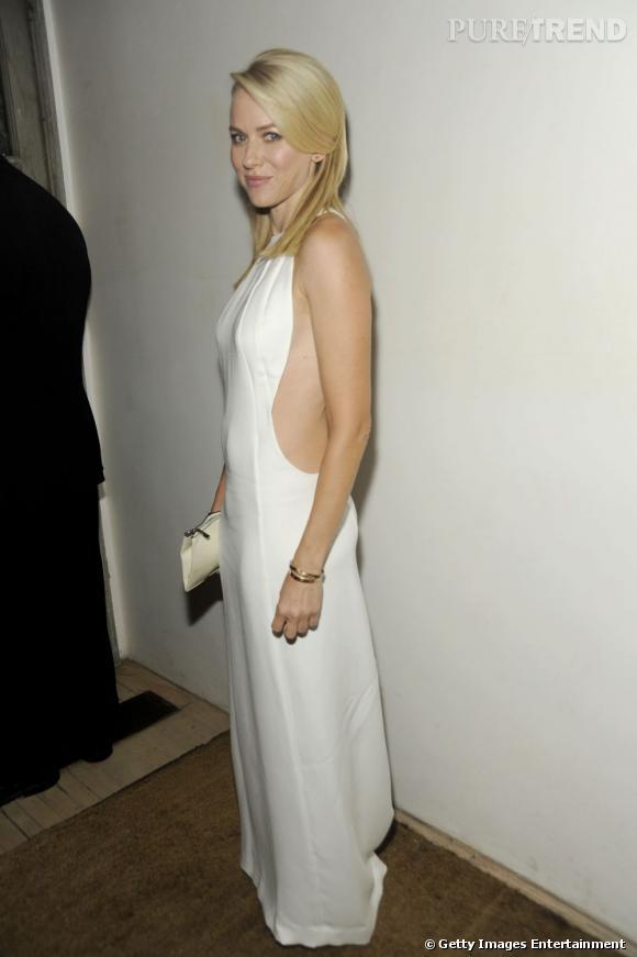 Naomi Watts au dîner Calvin Klein à New York.