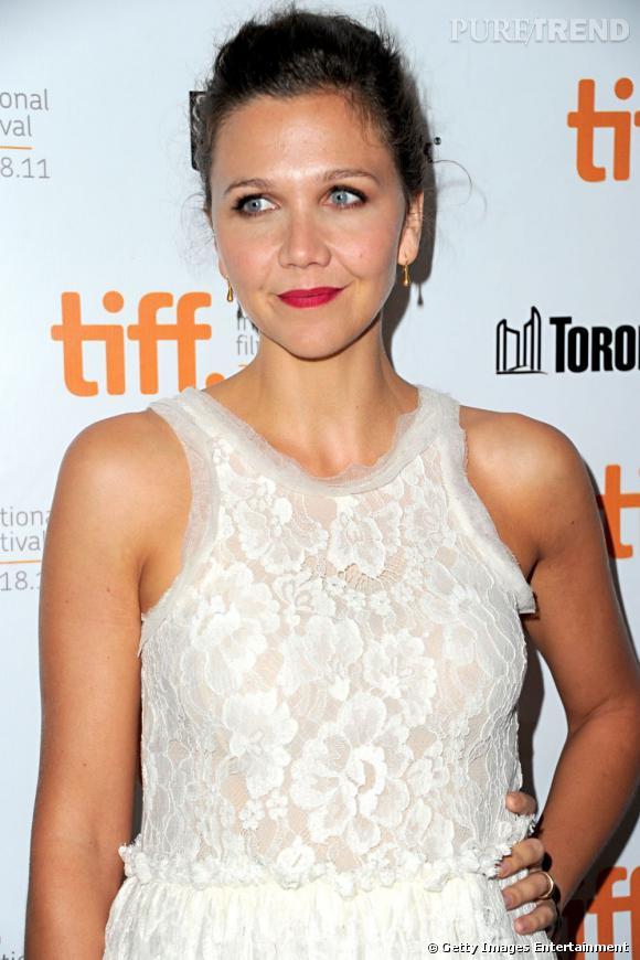 """Maggie Gyllenhaal à la première d'""""Hysteria"""" au Festival du film de Toronto."""
