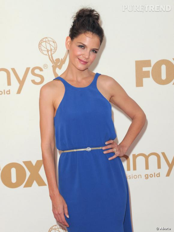 Katie Holmes invitée aux Emmy Awards à Los Angeles.
