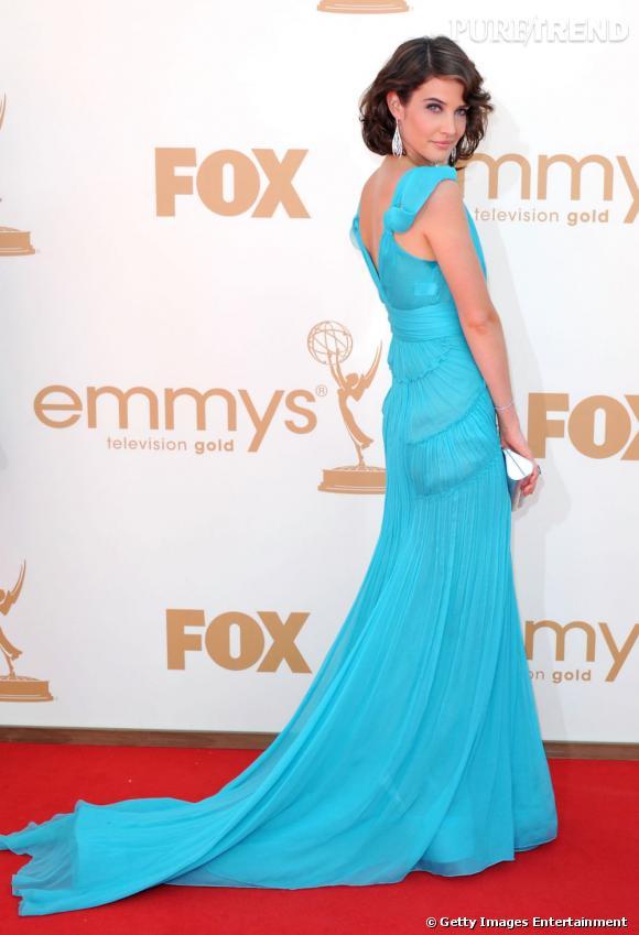 Cobie Smulders invitée aux Emmy Awards 2011 à Los Angeles.