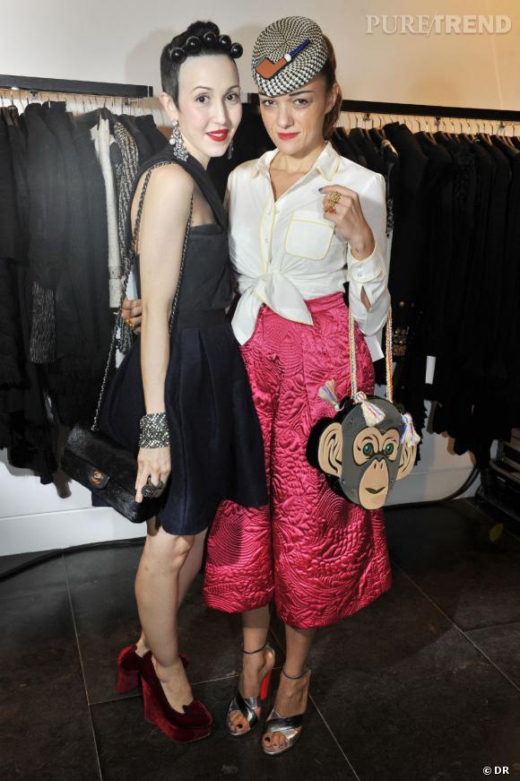Michelle Harper et la styliste Yazbukey.