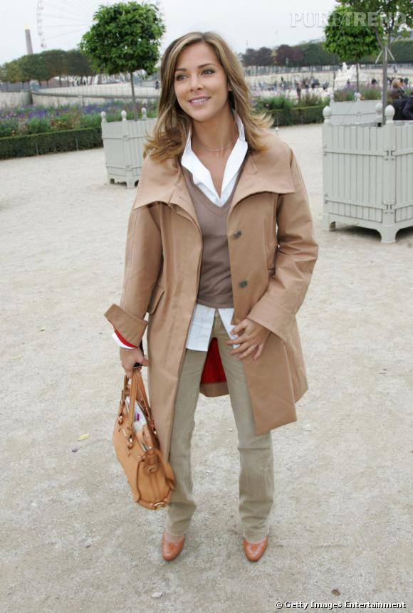 Melissa Theuriau, régulièrement conviée à des défilés de la Fashion Week.
