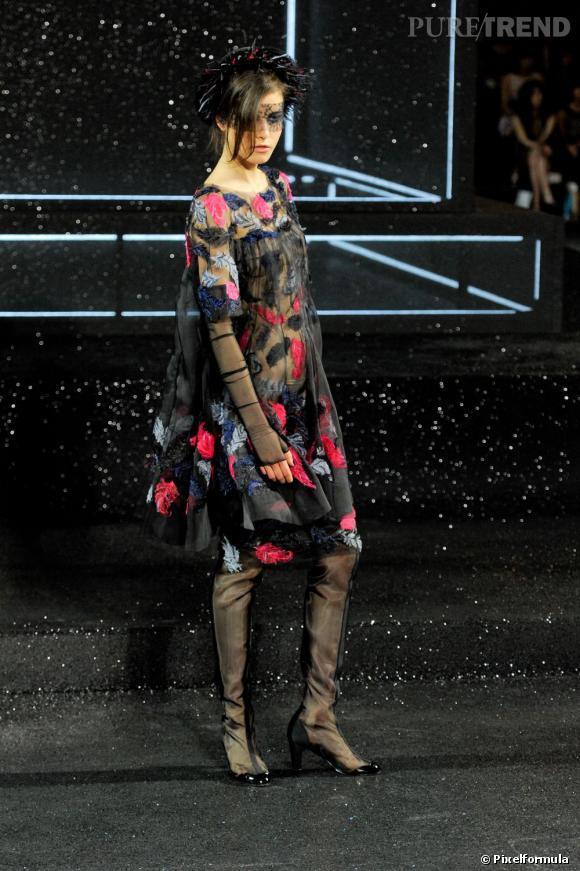 Les plumes sur les podiums !    Défilé Chanel Haute Couture Automne-Hiver 2011/2012.