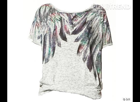 Zoom sur les plumes !     Top Zara, 19,95 €.   Sur  www.zara.com
