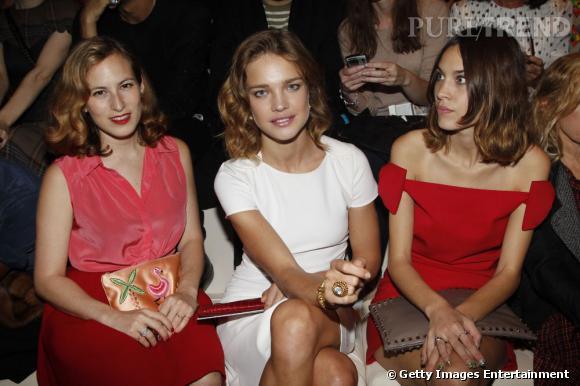 Charlotte Dellal, Natalia Vodianova et Alexa Chung chez Valentino.