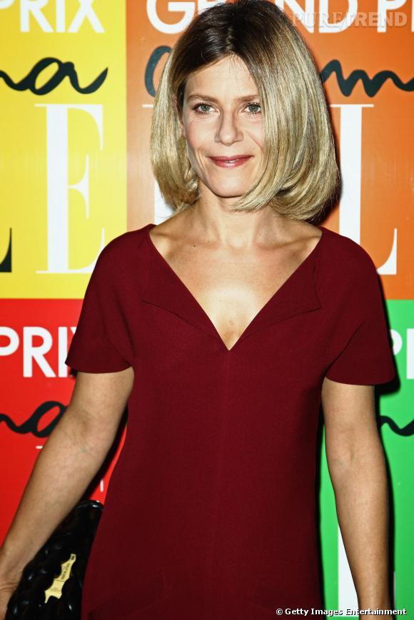 Marina Fois au premier Grand Prix du Cinéma organisé par le magazine Elle à Paris.