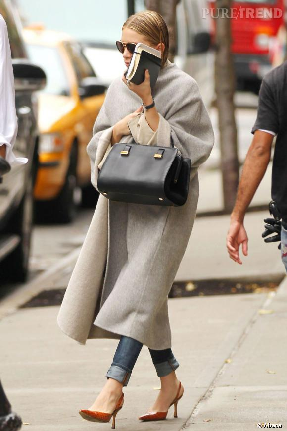 Ashley Olsen dans les rues de New York.