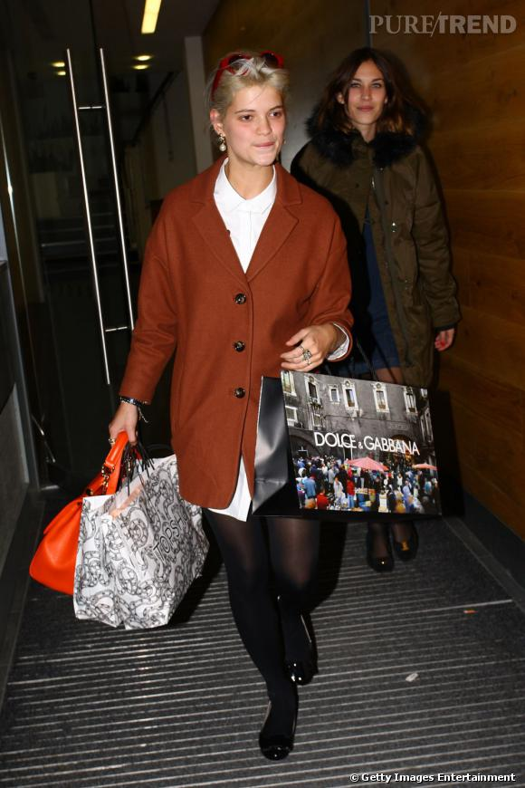 Pixie Geldof en séance shopping avec Alexa Chung.