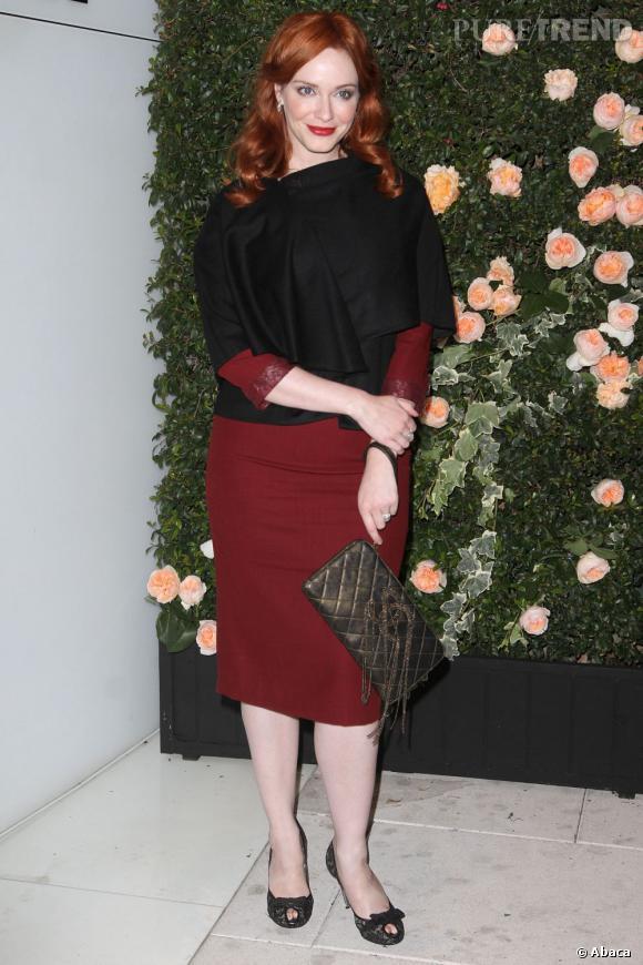 """Christina Hendricks lors de la soirée """"Intimate Dinner"""" de Chanel à Los Angeles."""