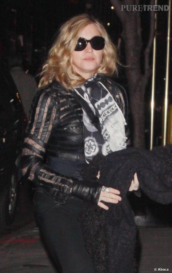 Madonna dans les rues de Manhattan.