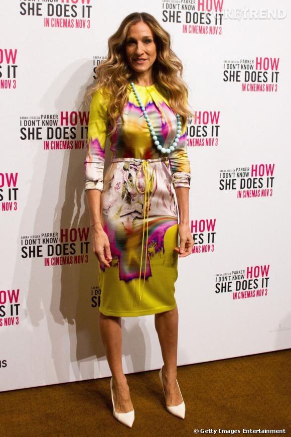 """Sarah Jessica Parker lors de la conférence de presse organisée pour le film """"Mais comment font les femmes ?"""" à Melbourne."""
