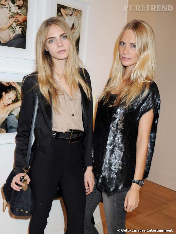 Les soeurs Delevingne : Cara et Poppy.