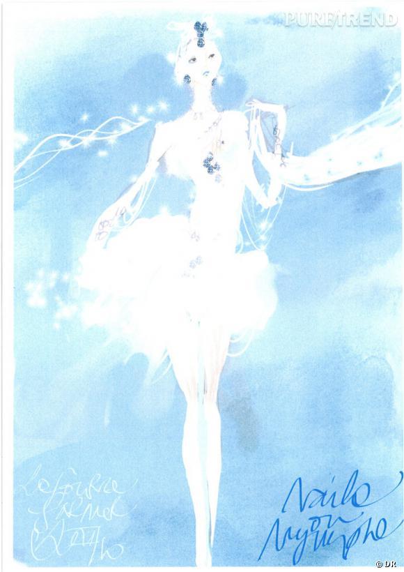 """Croquis de Christian Lacroix pour le ballet """"La Source""""."""