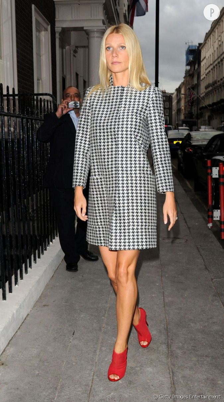 Lorsqu 39 on voit gwyneth paltrow avec son manteau pied de - Imprime pied de poule ...