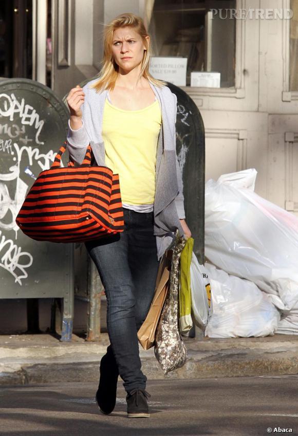 Claire Danes dans les rues de New York.