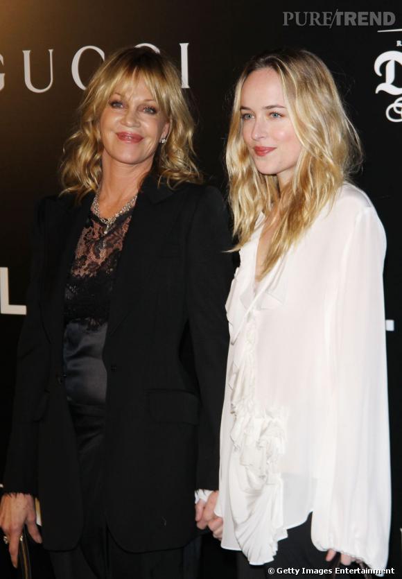 Entre la mère Mélanie Griffith et la fille, la ressemblance est troublante. Son côté racé, c'est de sa grand-mère, Tippie Hedren, l'héroïne de Hitchcock, qu'elle le tient.