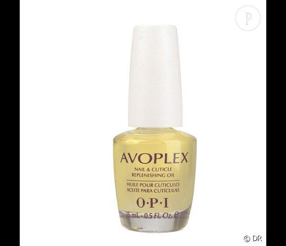 Notre shopping spécial soin des ongles Pour les ongles cassants : Huile Nourrissante pour les Ongles et les Cuticules Avoplex, O.P.I. 15 ml, 25,50 euros