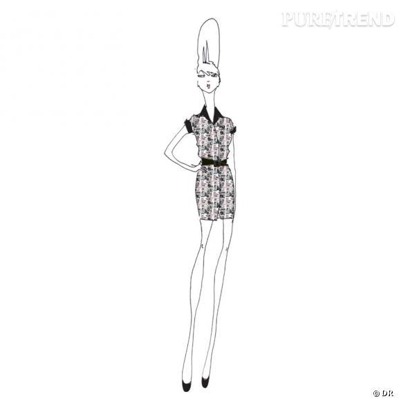 Collection Amy Winehouse pour Fed Perry, Printemps-Eté 2012.