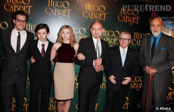 Chloë et l'équipe du film.