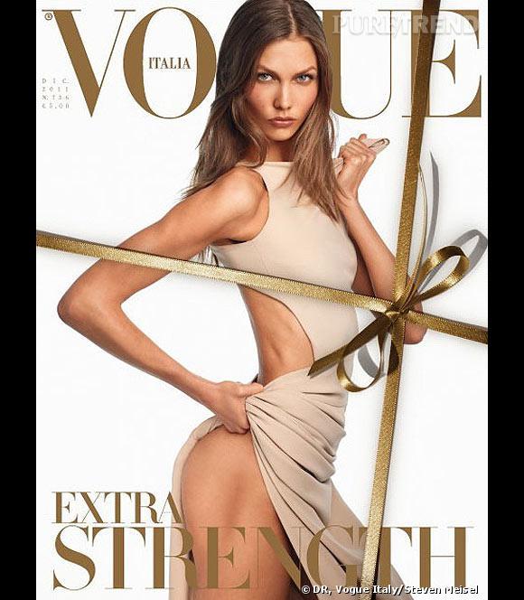 Karlie Kloss en couverture du Vogue Italie de décembre 2011.