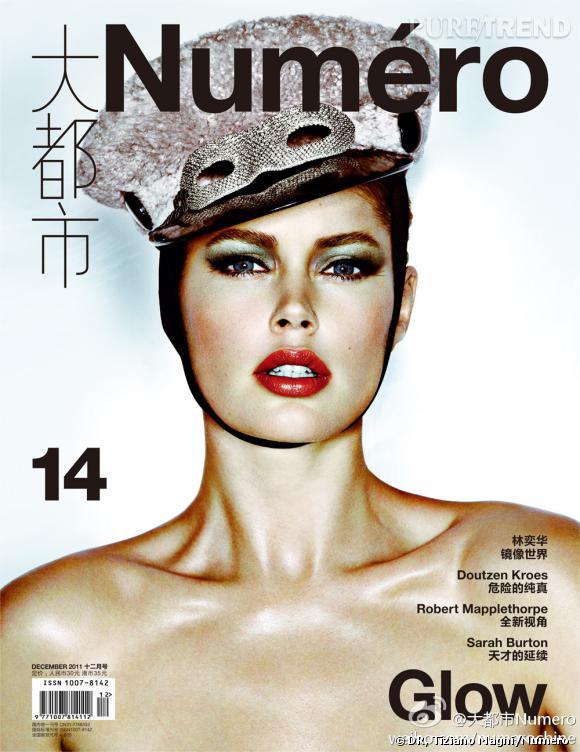 Doutzen Kroes en couverture du mois de décembre du Numero chinois.