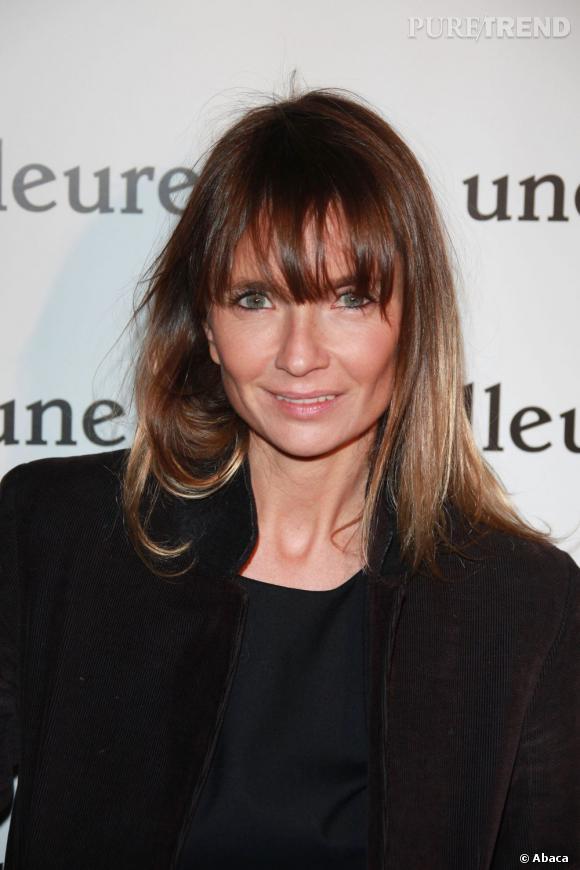 """Axelle Laffont à la première du film """"Une vie meilleure"""" à Paris."""